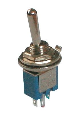 Toggle switch     2pol./3pin  ON-ON (mini)