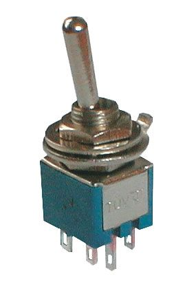 Toggle switch     2pol./6pin  ON-ON (mini)