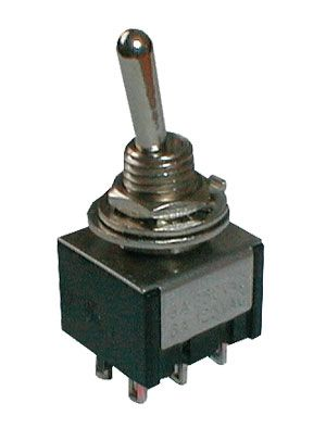 Toggle switch    3pol./6pin  ON-OFF-ON