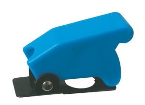 Toggle swich  with protection cover - blue