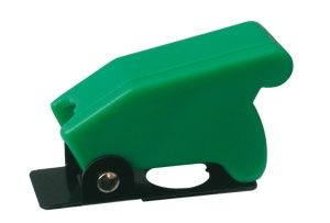 Toggle swich  with protection cover - green