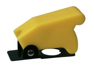 Toggle swich  with protection cover - yellow