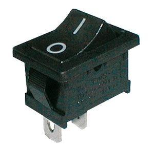Rocker switch     2pol./2pin  ON-OFF 250V/6A - black (O-I)