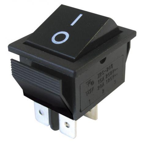 Rocker switch   2pol./4pin  ON-OFF 250V/15A - black