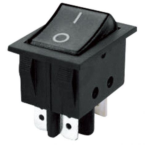 Rocker switch  2pol./4pin (ON)-OFF 250V/15A