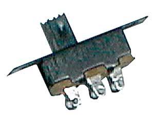 Slide switch 2pol./3pin