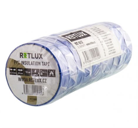 PVC insulating tape 15 / 10m RETLUX RIT 012 10pcs blue