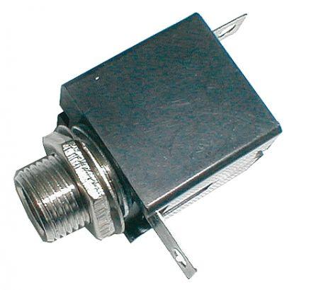 Plug contact 6.3 mono (panel, plastic)