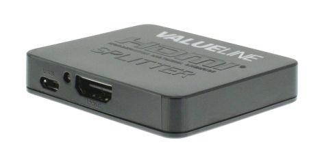 Hub 1x HDMI input - 2x HDMI outputs VALUELINE VLVSP3402