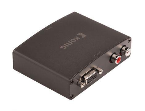 Converter 1x HDMI input - 1x VGA + 2x RCA output KÖNIG KNVCO3411