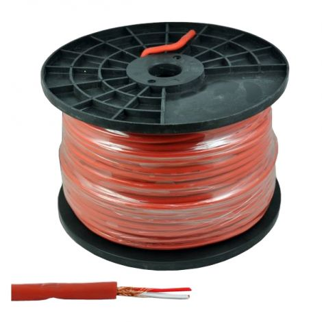 Microphone cable stereo 6mm red