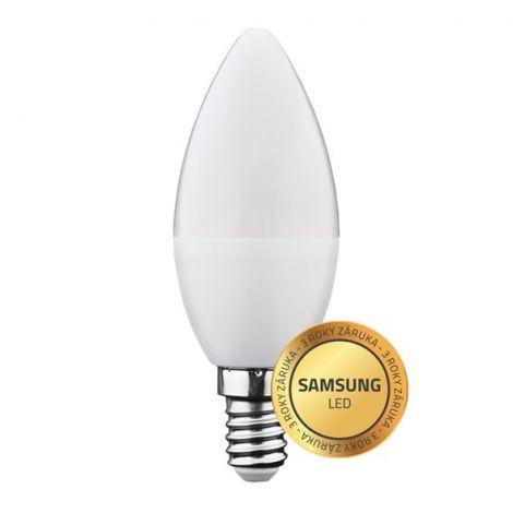 Geti bulb led 6W white warm, (E14 C37) SAMSUNG chip