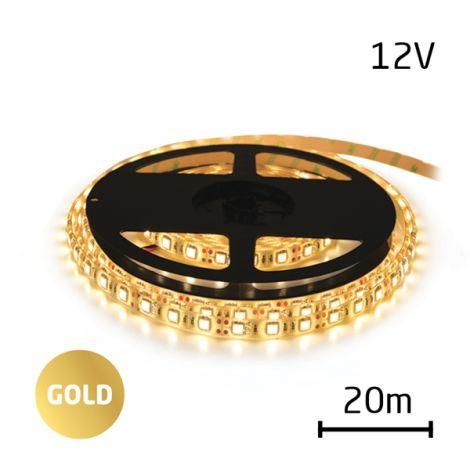 LED Strip 12V 2835 60LED / m IP20 max. 6W / m gold (Reel 20m)