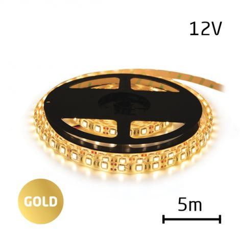 LED Strip 12V 2835 60LED / m IP65 max. 6W / m gold (coil 5m)