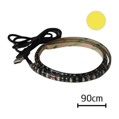 LED strip with USB Geti GLS34W, 90 cm, warm white