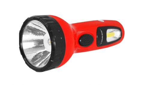 Lamp hand TIROSS TS-1169-1, 1+2 LED, 700 mAh rechargeable red