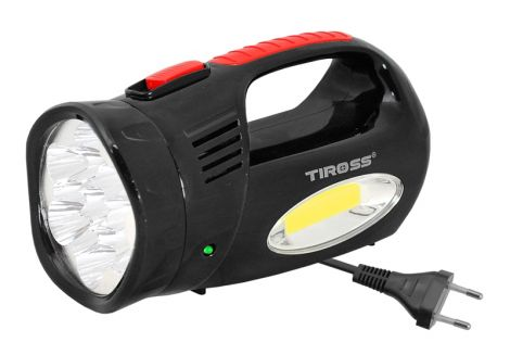 Lamp assembly TIROSS TS-760-3, 13 LED+COB rechargeable black