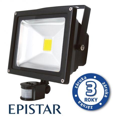 LED outdoor spotlight with PIR 30W / 2500Lm EPISTAR, MCOB, AC 230V, cold, black
