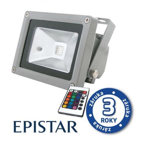 LED outdoor spotlight 10W RGB EPISTAR, MCOB, AC 230V, gray