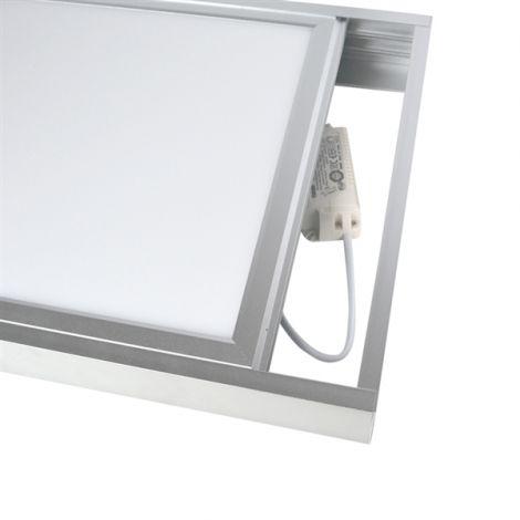 Frame for LED panel 30x60cm, silver