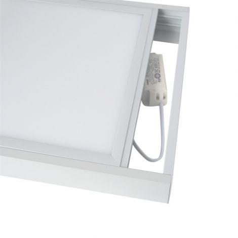 Frame for LED panel 30x120cm, white