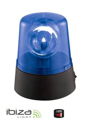 Rotating beacon light IBIZA JDL008B-LED blue