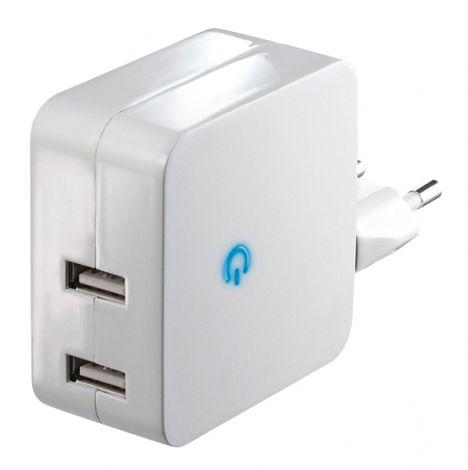 USB adaptor 5V/2x2,4A white DC41