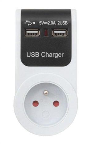 AC power supply + 2x USB sockets GB101