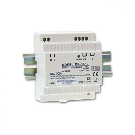 Switching power supply 12V / 60W DR-60 on DIN rail