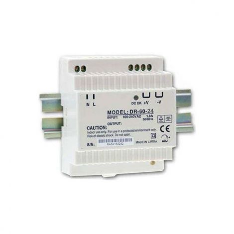 Power supply 24V / 60W switched DR-60 on DIN rail