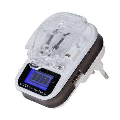 Processor Universal charger for M-LIFE battery Li-ion/Li-poly LCD USB ML0515