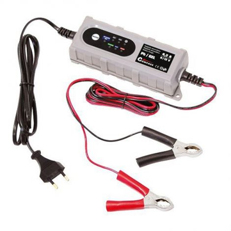 Compass Charger microprocessor 4.2Amp 6 / 12V PB / GEL max. 120Ah