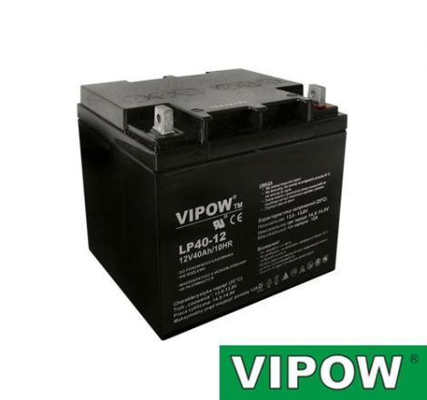 Lead-acid battery 12V 40Ah  VIPOW