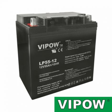 Lead-acid battery 12V 55Ah VIPOW