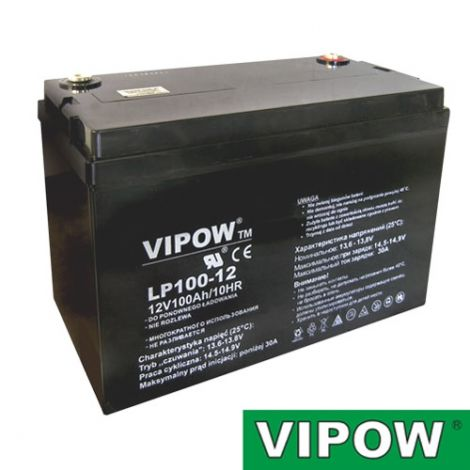 Lead-acid battery 12V 100Ah  VIPOW