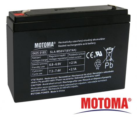 SLA AGM battery  6V/ 7Ah  MOTOMA