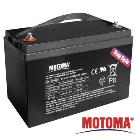 SLA DEEP CYCLE battery 12V/100Ah  - MOTOMA