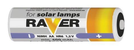 Battery AA (R6) RAVER solar 600mAh