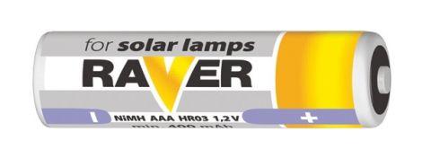 Battery AAA(R03) RAVER solar 400mAh