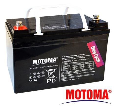 SLA TRACTION battery 12V/33Ah - MOTOMA