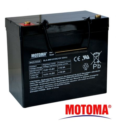 SLA AGM battery  12V/55Ah  MOTOMA