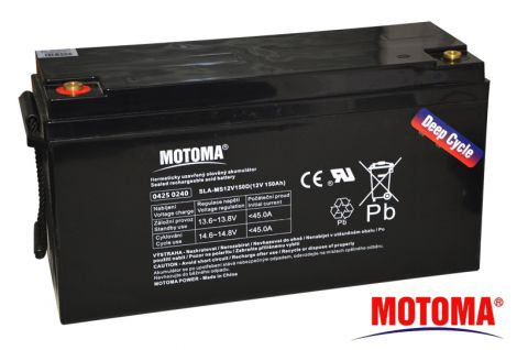 SLA DEEP CYCLE battery 12V/150Ah  - MOTOMA