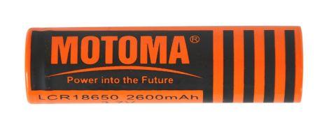 Battery Li-Ion LCR18650 3,7V/2600mAh MOTOMA