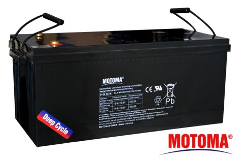 SLA DEEP CYCLE battery 12V/200Ah  - MOTOMA