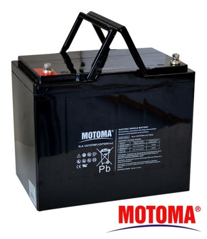 SLA TRACTION battery 12V/75Ah – MOTOMA