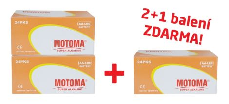 Bundle 2+1 (288 ks) Ultra Alkaline AA (R6) MOTOMA