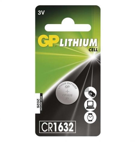 GP Lithium Battery CR1632, 1 pc in blister