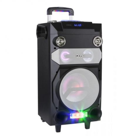QUER Portable active Quer DJ set with RGB lights, recording function and karaoke KOM0920