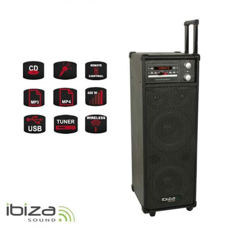 Speaker system IBIZA PORT8CD-VHF karaoke portable