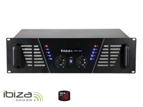 Amplifier IBIZA 2x600W AMP800 black